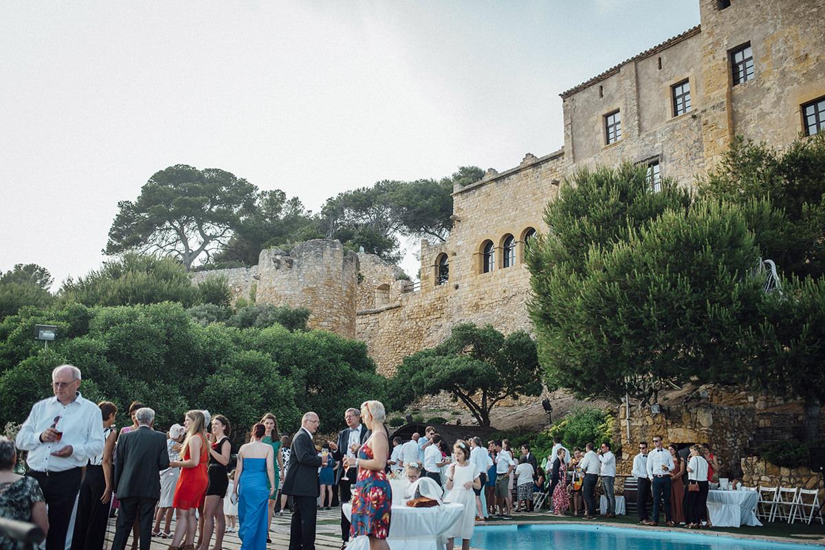 piscina castillo tamarit boda